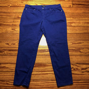 Eileen Fisher Size 12 Purple Ankle Length Jeans